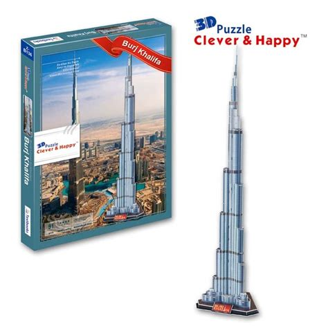 How To Make Burj Khalifa Out Of Paper - aliexpress buy 2013 new clever happy land 3d puzzle