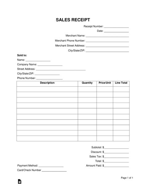 as is receipt template free sales receipt template word pdf eforms free