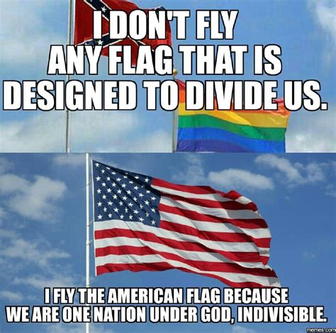 American Flag Meme - confederate and rainbow flags vs american flag memes com