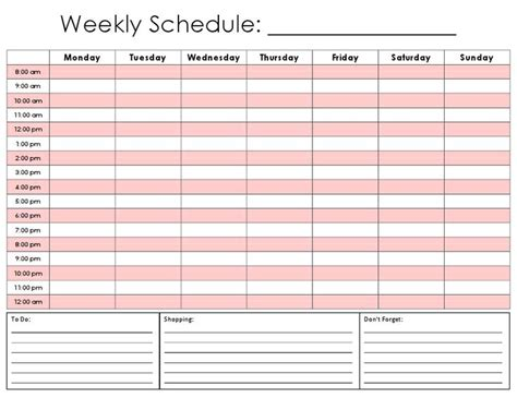 weekly schedule template for best 25 weekly schedule template excel ideas on