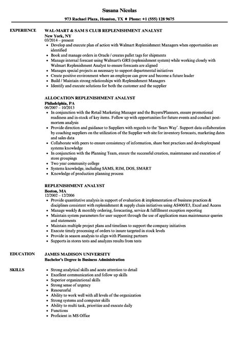 Replenishment Analyst Cover Letter by Data Analyst Resume Margins Search Resumes Best Resume Templates
