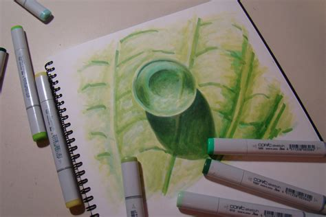 Drawing Markers by Coloring Water Droplets With Copic Markers Copic