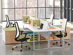 office chic cubicle decor carry on style business chic benching one of the newest office design solutions