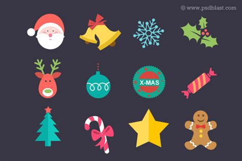 xmas pattern psd christmas icons that you must have psddude