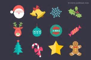 Flat Christmas Iconset (12 icons) | PSDblast