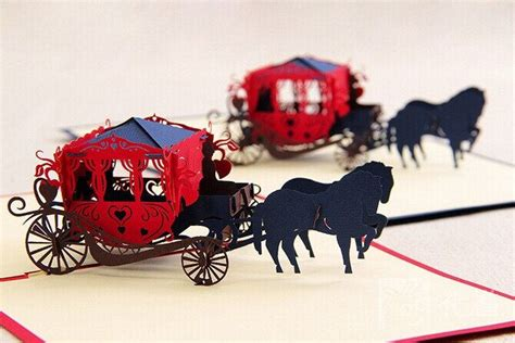 pop up cinderella carriage card template 107 best images about castelli e principesse on
