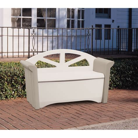 storage bench lowes lowes rubbermaid storage bench