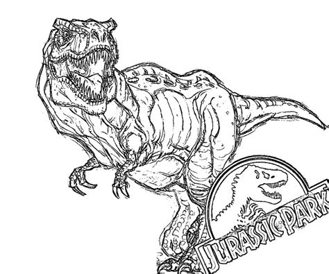 Free Coloring Pages Of Jurassic Park 3 Jurassic Park Coloring Pages
