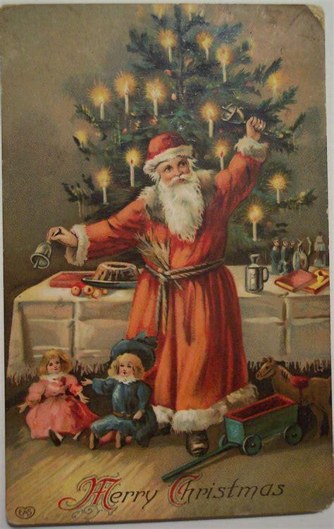 vintage christmas santa postcard flickr photo sharing