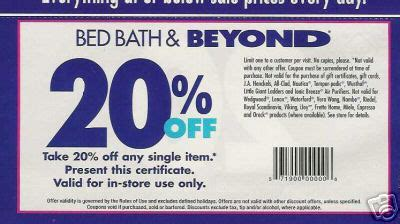 bed bath and beyond online coupon 20 off bed bath and beyond printable coupon june 2011 bedroom
