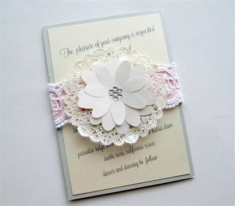 Wedding Invitations Using Doilies by 30 Best Images About Wedding Invitation Ideas On