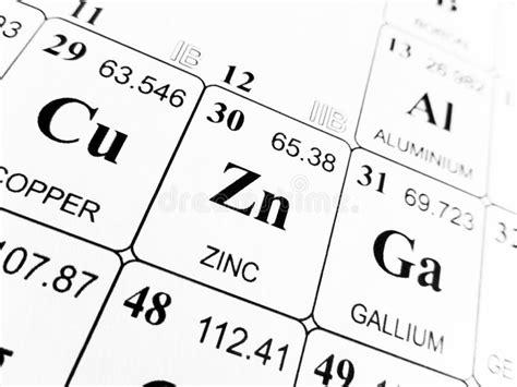 zinco tavola periodica zinco sulla tavola periodica degli elementi immagine stock