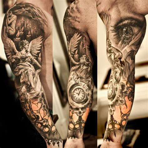 angel tattoo sleeves eye images designs