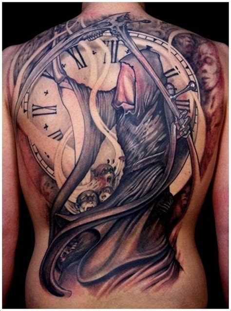 grim reaper tattoo 35 cool cryptic grim reaper tattoos