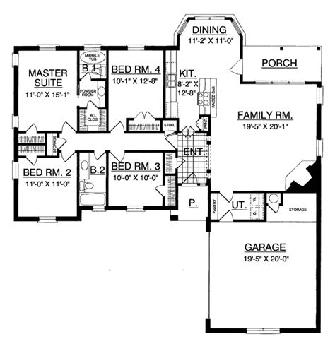 back bathroom floor plan revisions dscn home creative traditional style house plan 4 beds 2 baths 1695 sq ft
