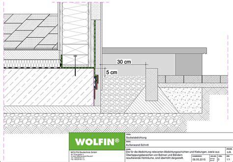 Was Ist Ein Sockel by Risse 252 Berbr 252 Ckende Abdichtung 224 La Wolfin F 252 R Holzbauteile Im Gr 252 Ndungsbereich