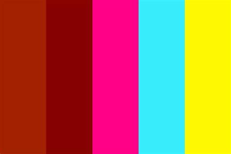 neon color palette pyramids and neon color palette