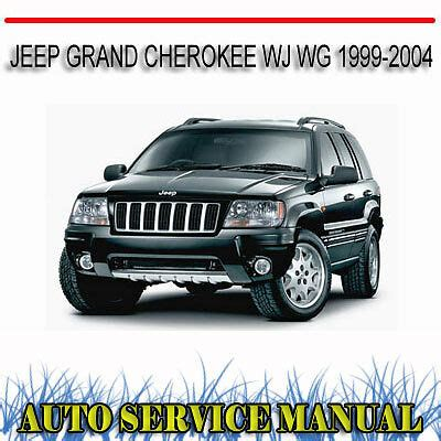 jeep grand cherokee wj wg 1999 2004 service repair manual dvd ebay