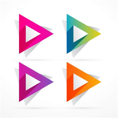 triangle pattern logo abstract colorful triangle shape vector free download