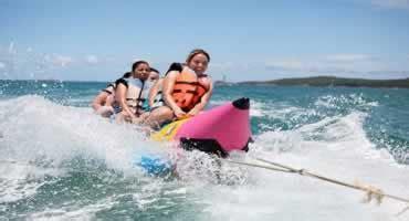 banana boat seminyak bali water sports and kintamani tour
