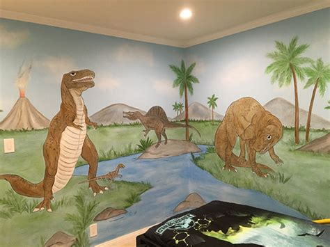 dinosaur wall mural dinosaur wall mural exles photos and