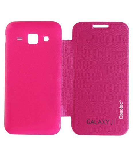 Samsung Galaxy Flip Cover J1 Pink casotec premium flip cover for samsung galaxy j1