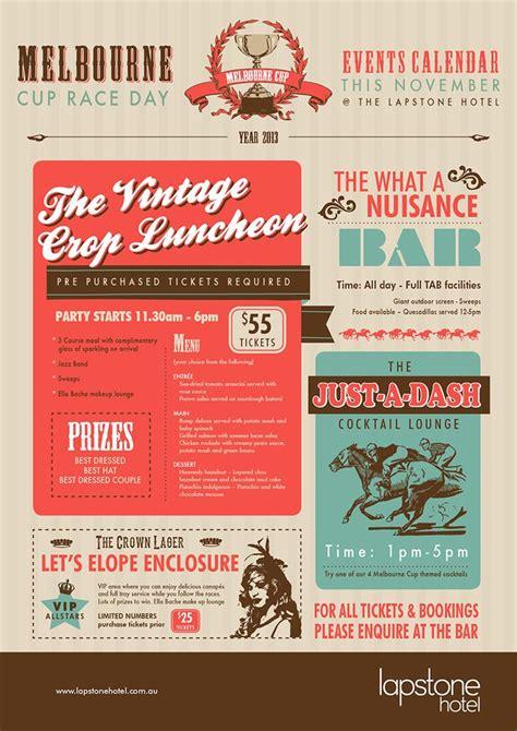 menu design melbourne 17 best melbourne cup spring racing diy graphic design