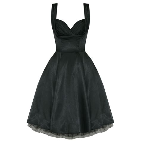 50s swing dress uk ladies new black satin vintage 50s retro pinup party prom