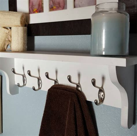 Bathroom Rack With Hooks White Bathroom Shelf Bathroom Shelf With Hooks Bathroom