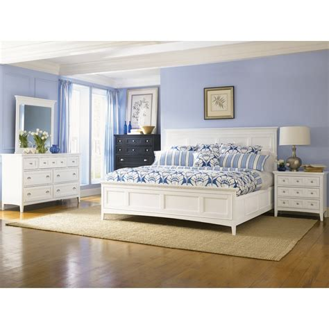 magnussen 4pc kentwood size bedroom set in white