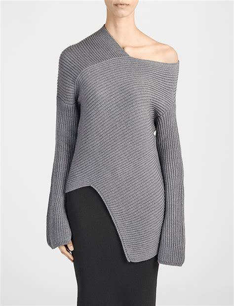 asymmetrical knit sweater pattern wool cardigan stitch asymmetric sweater alternative image