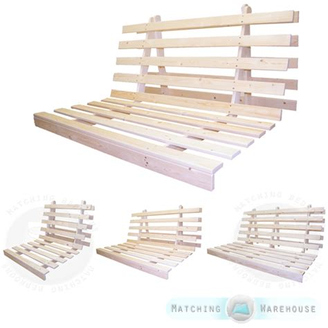 wooden futon bed base wood sofabed seat frame in 3 sizes