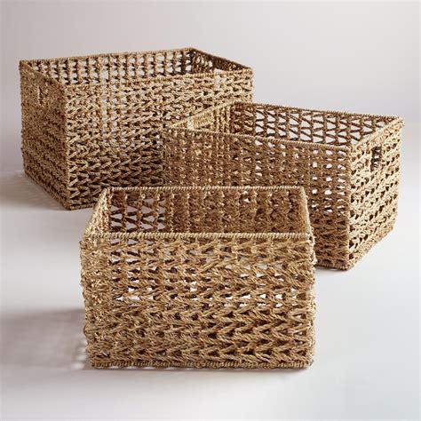 basket weave seagrass v weave baskets market