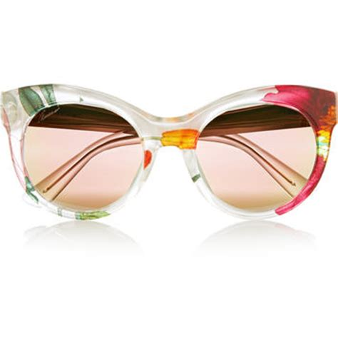 Gucci Flower G323661 Set 2 In 1 Semi Premium gucci cat eye printed acetate and metal from net a porter