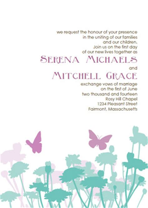 butterfly invitation card template printable butterfly wedding invitation templates