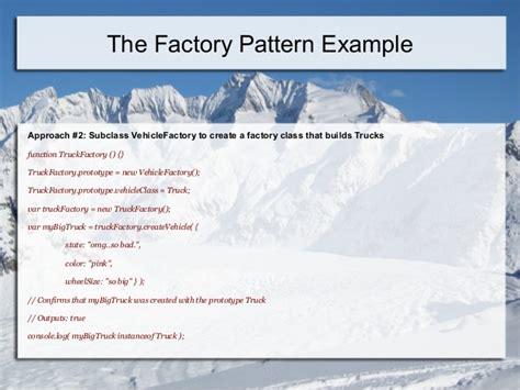 js design pattern factory design patterns in java script jquery angularjs