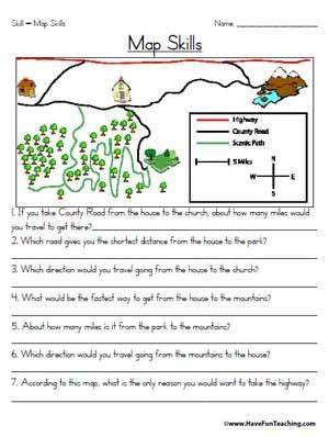 printable map reading skills worksheets map scale worksheet 3rd grade results for map skills