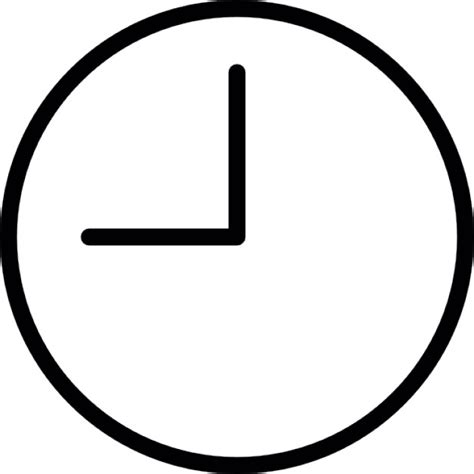 Minimalist Alarm Clock by Round Clock At Nine Oclock Outline Icons Free Download