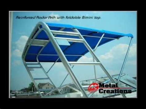 boat t top diy custom marine fabrication boat towers t tops radar