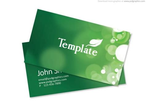 green business cards templates free green eco nature business card templates psd welovesolo