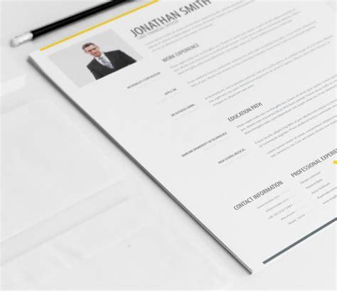 simple resume template vol 4 simple resume template vol 1