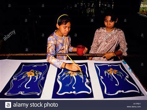 Batik Kota Probolinggo 1 malaysians batik stock photo royalty free