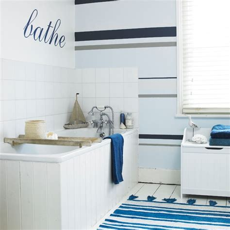 Bathroom Wallpaper Stripes by Nautical Striped Bathroom Wallpaper Bathroom Wallpapers