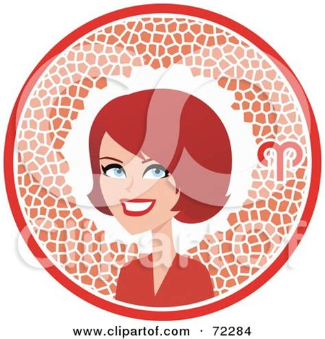 pretty aries royalty free rf clipart illustration of a pretty aries in a circle with the zodiac