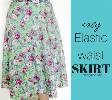 skirt pattern waist ease make a simple easy elastic waist skirt tutorial