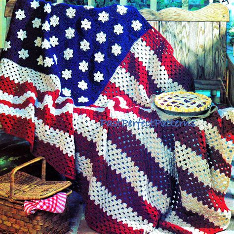 vintage pattern throw stars and stripes afghan vintage crochet pattern throw