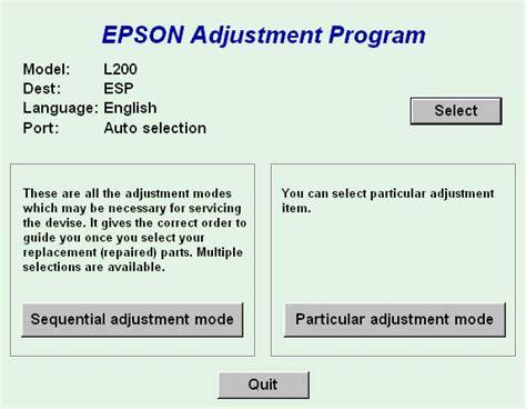 resetter adjustment program resetter epson l200 printer tools