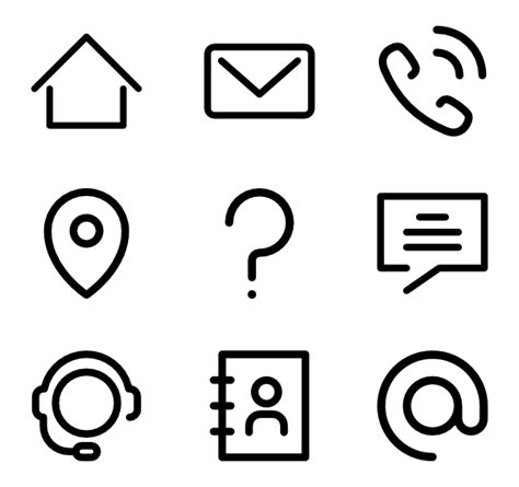 Resume Creator Free Download by 10 Contact Icon Packs Vector Icon Packs Svg Psd Png