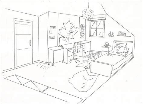 dessin d une chambre une chambre dessin chaios com