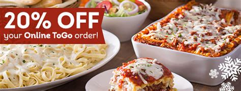 u order olive garden to go olive garden save 20 on to go orders when you order today only